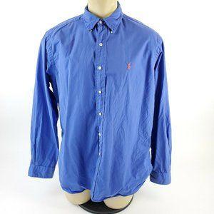 Polo Ralph Lauren EUC Blue Long Sleeve Polo L